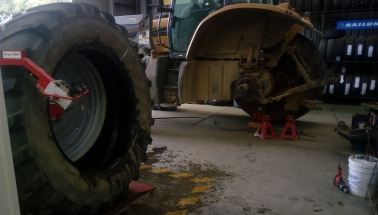 Agricultural tyre repairs